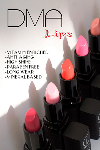 Image: DMA Lips Anti-Again lipstick line from Duality Artistry, Naples FL